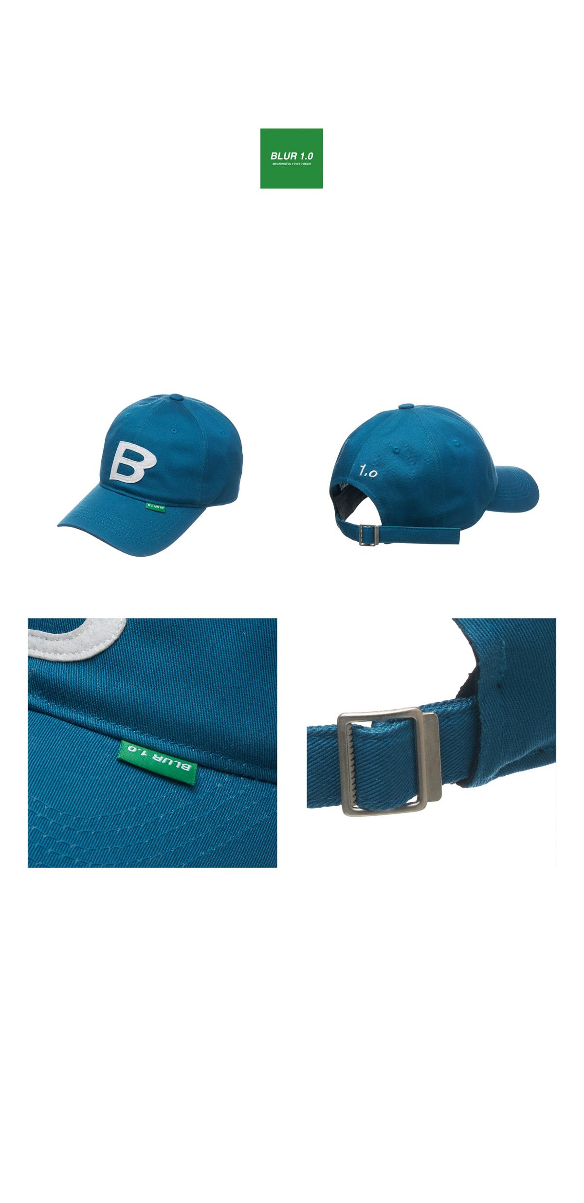 블러1.0(BLUR 1.0) B PATCH CAP_BLUE GREEN