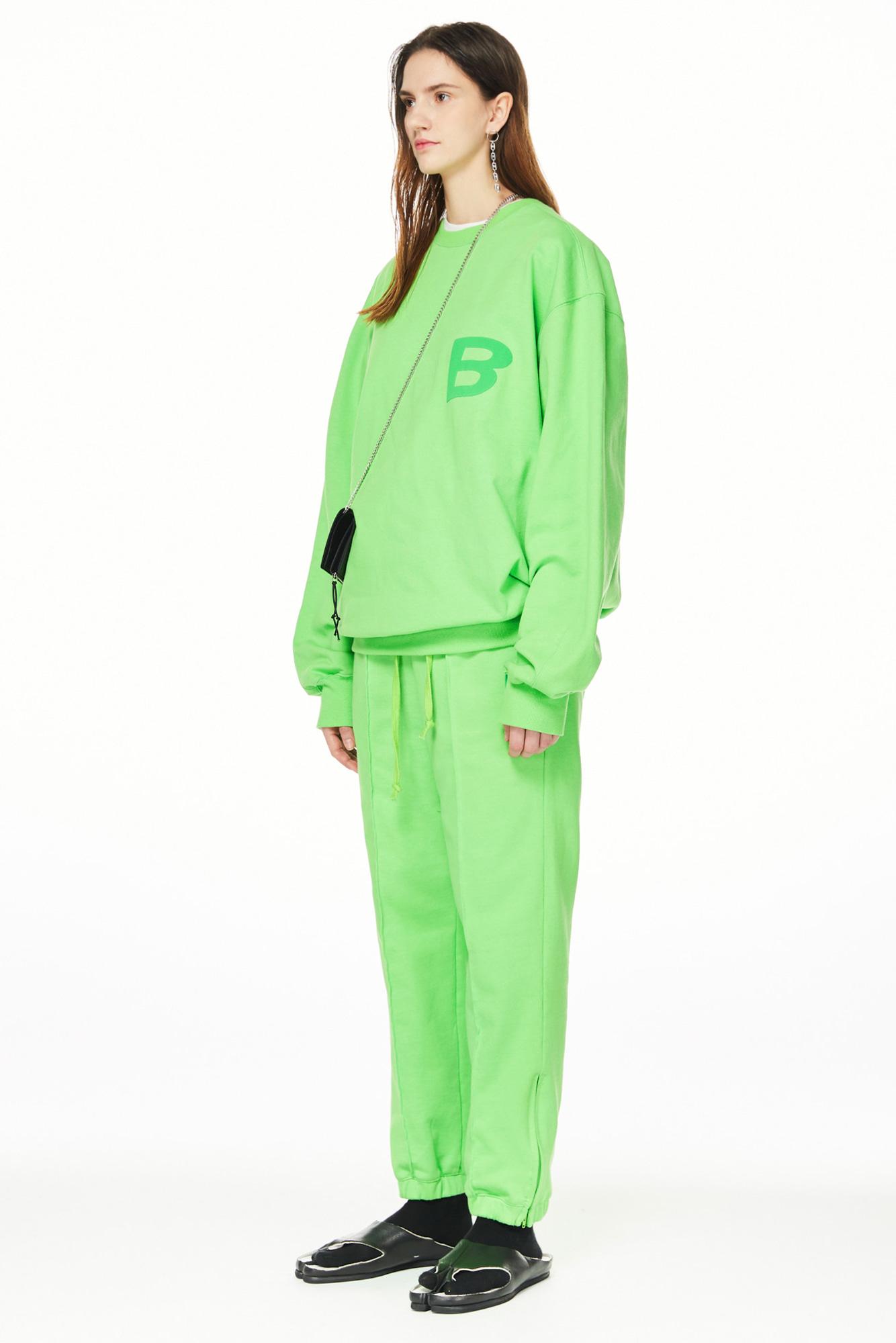 블러1.0(BLUR 1.0) B GREEN SWEAT PANTS - GREEN