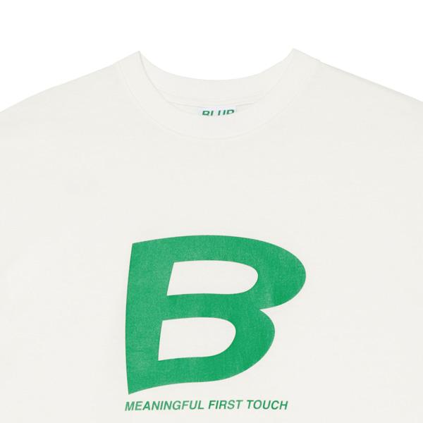 블러1.0(BLUR 1.0) B LOGO T-SHIRT - WHITE